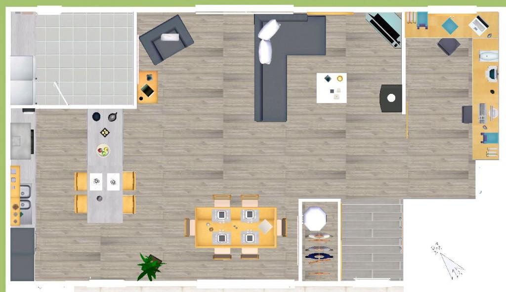 modele de cuisine ouverte sur salle a manger. agencement salle de ... - Cuisine Ouverte Sur Salle A Manger Et Salon